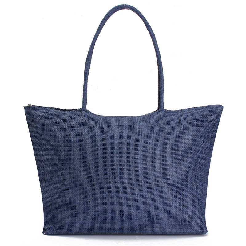 2017 Hot New Design Straw Popular Summer Style Weave Woven Shoulder Tote Shopping Beach Bag Purse Handbag Gift FreeShipping N770 12