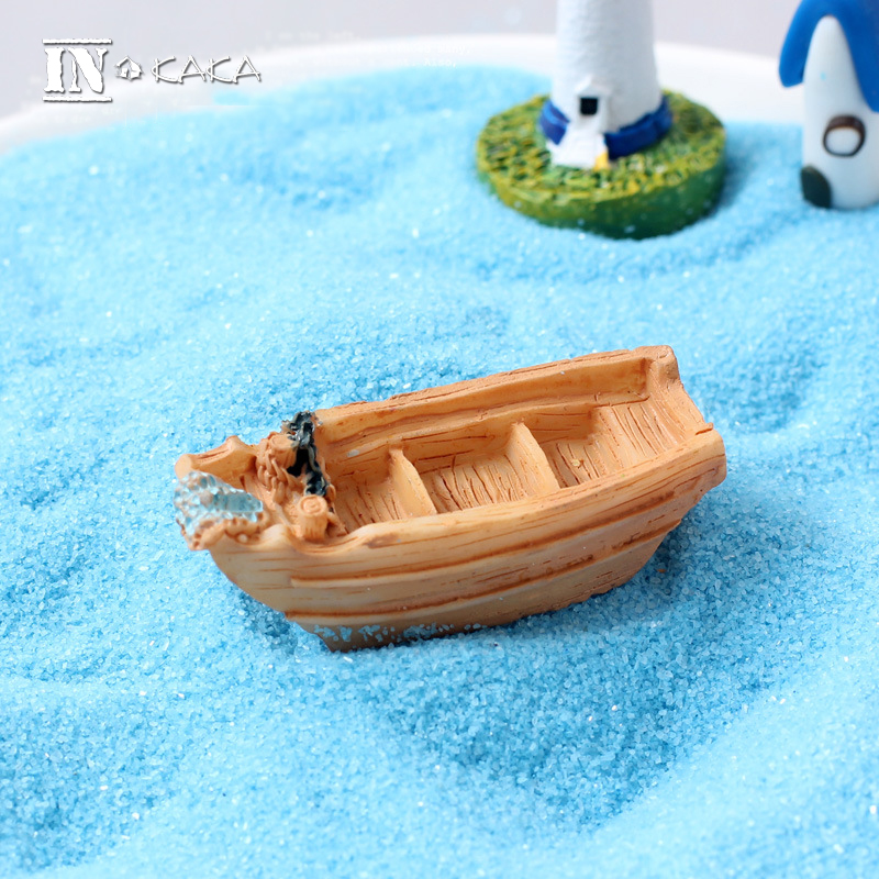 Micro beach landscape fairy garden decoration mini boat miniature/terrarium/succulent figures toys DIY accessories ornaments