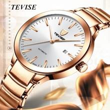 цена на Luxury Brand Tevise Gold Automatic Watch Stainless Steel Men's Watch Waterproof Date Men Mechanical Wristwatch Relogio Masculino