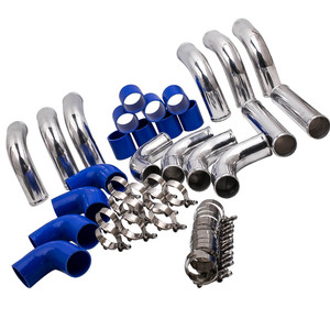 Image 1 - 64mm 2.5 Aluminum Universal Intercooler Turbo Piping 64mm T Clamp kits 12 Pieces