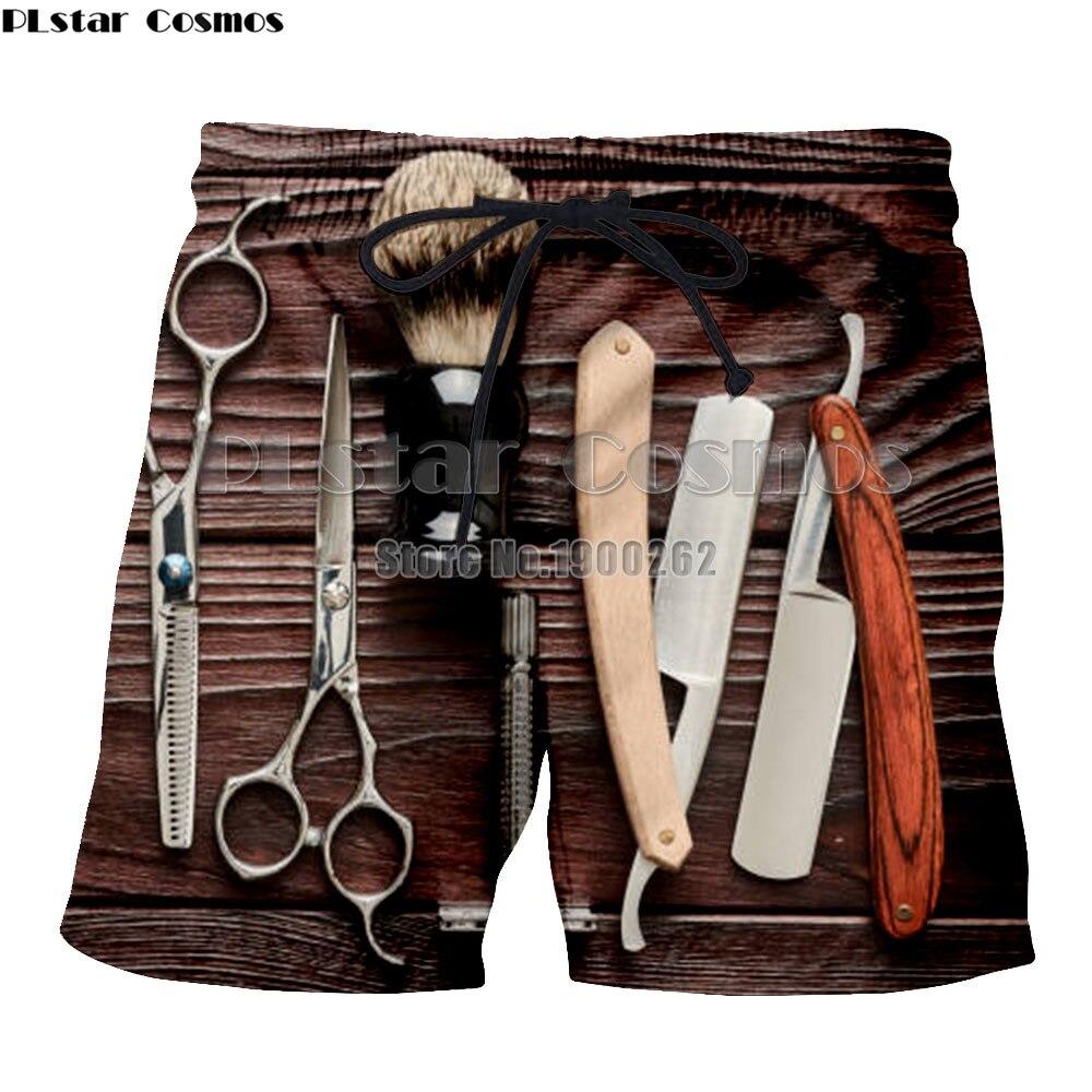 Plstar Cosmos Kapper Schaar Klassieke Stijl Korte Mouw Shorts Print 3d Casual Shorts Plus Size S-5xl
