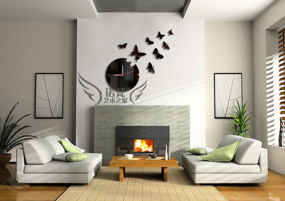 a7f447f13 free shipping new arrival 3D wall clock Home decoration DIY crystal mirror  wall clocks children's wall art watch z041 في free shipping new arrival 3D  wall ...