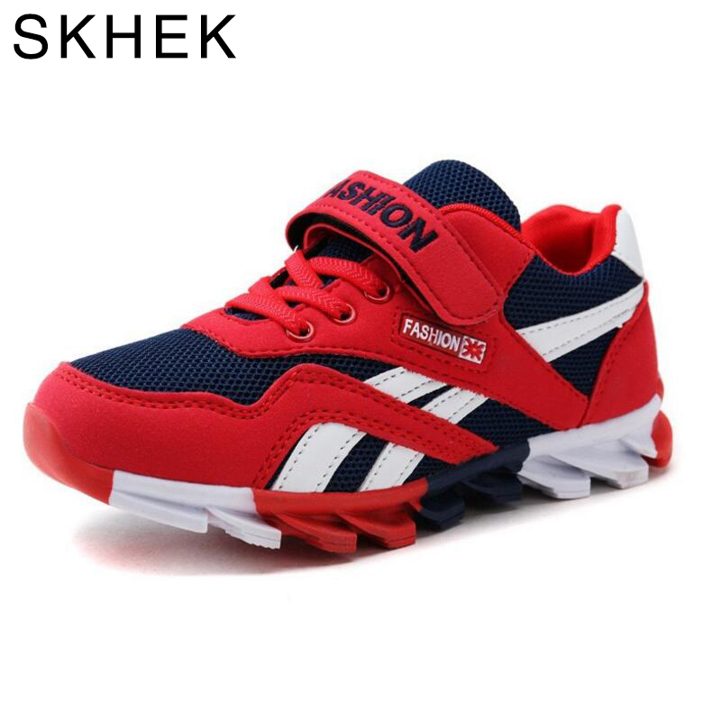 SKHEK Spring Autumn Boys Sneakers Children Shoes Canvas Man-made Suede For Kids Shoes Fashion Sport Footwear 26-36