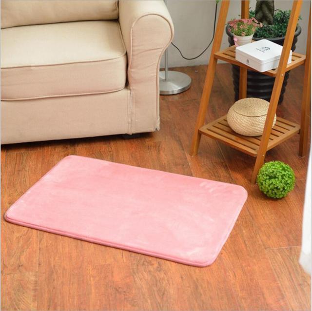 Customize Solid Carpets Livingroom Kitchen Anti slip Bath Mats ...