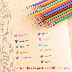 12 pçs/set bonito papelaria diamante 12 cores gel recarga escritório artigos de papelaria material escolar multicolorido coreia canetas para crianças