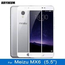 Aryikum HD полное покрытие закаленное Стекло для Meizu MX6 Экран протектор Плёнки крышка смартфона Стекло для Meizu MX6 32 ГБ MX 6 Стекло