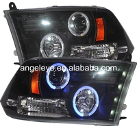 For Dodge Ram RAM PICK UP F1500 2009-2012 Year LED Headlight with Bule Angel Eyes SN