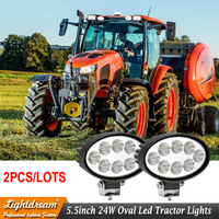 2pcs 5.5 Inch Oval 24 watt LED Work Lamp 12V 24V Led Tractor Light For Off Road, Atv, Utv, Polaris Ranger, Razor, Kubota lamps