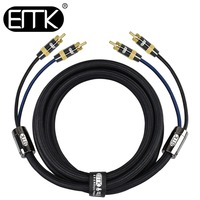 EMK HIFI 2 RCA Cable Male to Male 4N 99.99% OFC 2RCA to 2RCA Cable 1m 2m 3m 5m RCA Stereo Audio Cable Amplifier Mixer Speaker
