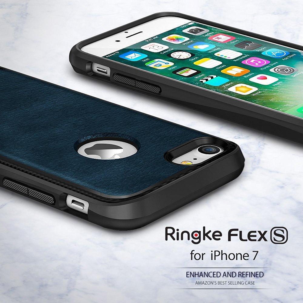 """Цена за Ringke Flex S Чехол для iPhone 7 (4.7 """") Ретро Капа Fundas покрытием текстурированная кожа бизнес Стиль гибкий TPU Чехлы"""