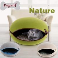 5pcs per lot Pet Dog Cat Bed House Nature Felt Dog Pet Kennel House Cat Cave 3 colors available