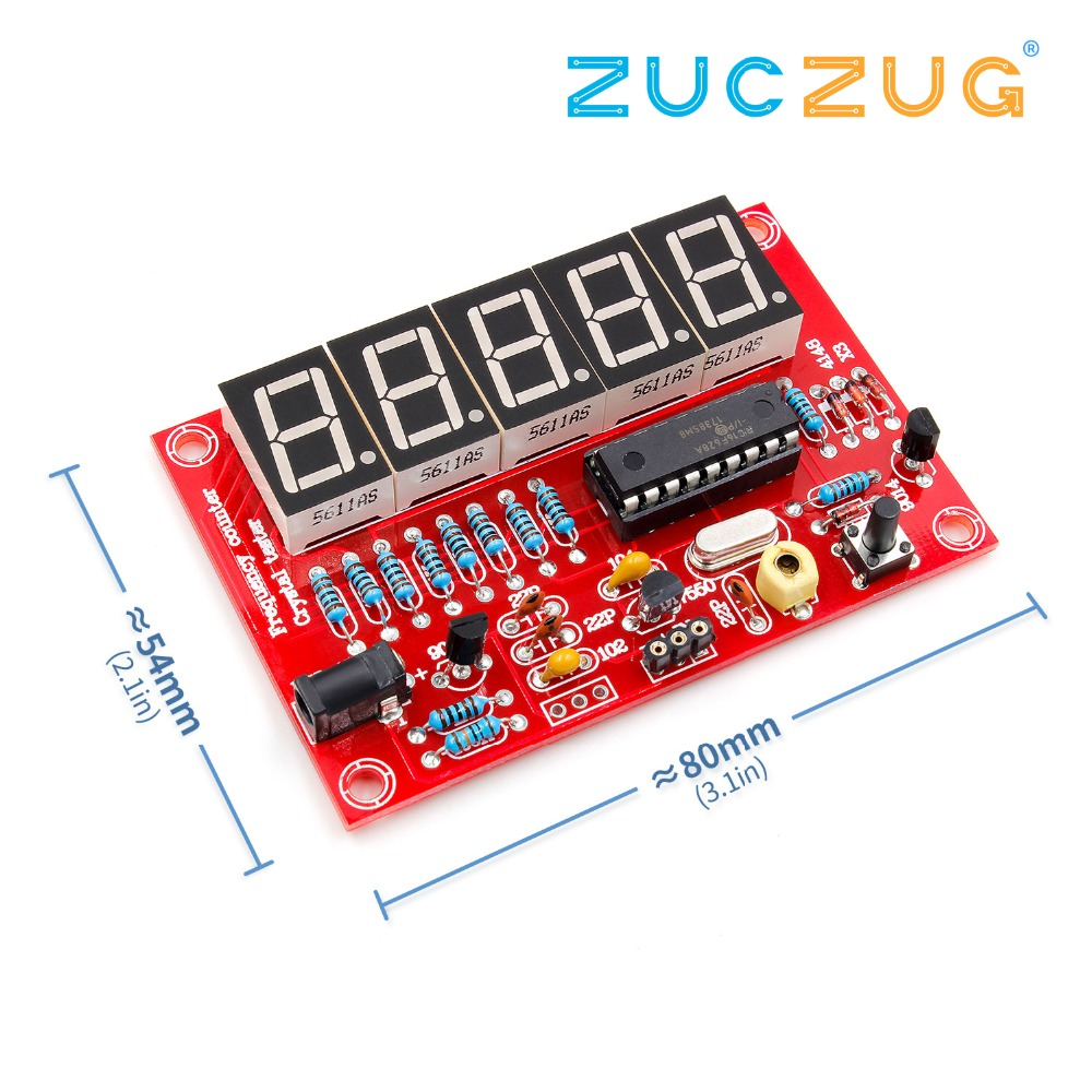 SODIAL DIY Kits 1Hz-50MHz Crystal Oscillator Frequency Counter Meter R