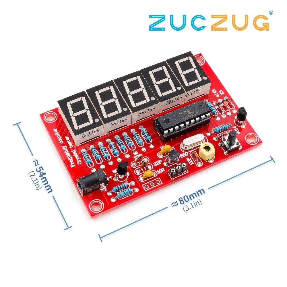 Bricolage Kits RF 1Hz-50MHz cristal oscillateur fréquence compteur compteur numérique LED testeur compteur de fréquence numérique