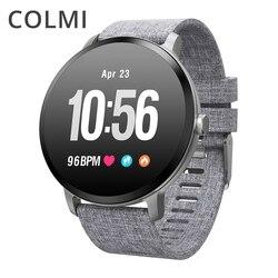 COLMI V11 Astuto della vigilanza IP67 impermeabile vetro Temperato Attività inseguitore di Fitness Heart rate monitor TESA donne Degli Uomini smartwatch