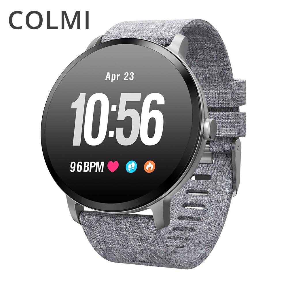 COLMI V11 IP67 vidro Temperado à prova d' água relógio Inteligente Atividade rastreador De Fitness monitor de freqüência cardíaca Homens BRIM mulheres smartwatch