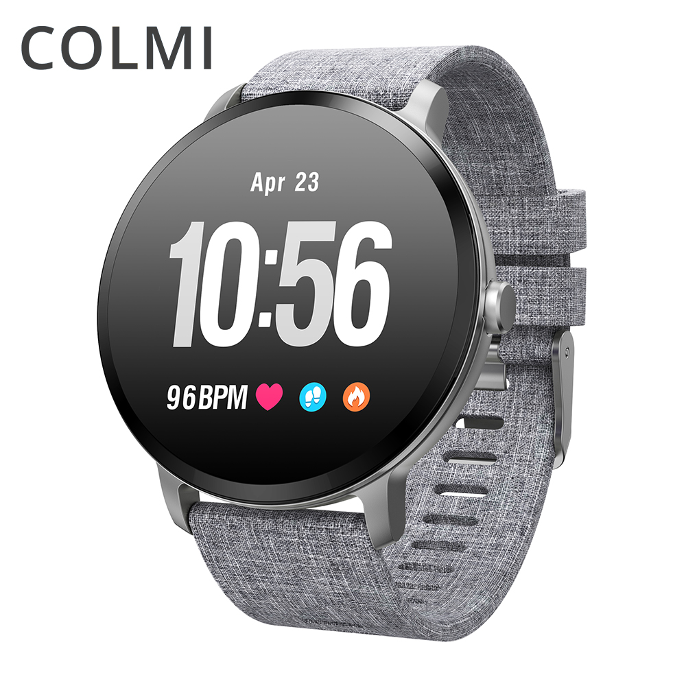 Colme de V11 reloj inteligente IP67 impermeable de templado de vidrio de actividad rastreador de ejercicios monitor del ritmo cardíaco de la ALA de las mujeres de los hombres smartwatch