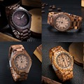 Fashion Japan Movement Natural Wooden Wristwatches Retro Style Simple Dial Handmade Wood Watch Unique For Men Christmas Gifts