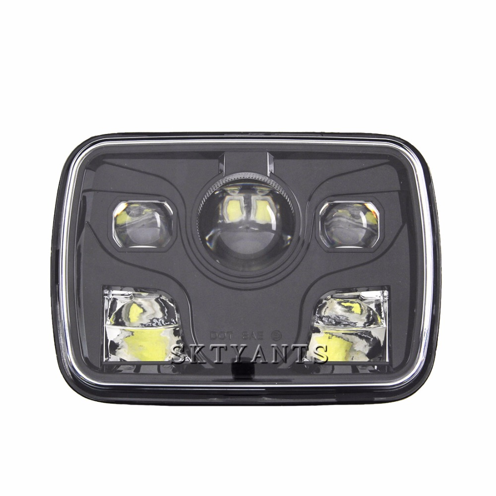 5x7 Auto square led headlamp 5x7 Inch led truck headlight 6x7 high low beam square led headlight for Jeep Cherokee XJ 5x7 inch car auto drl led headlamp 5x7 7x6 led truck headlight high low beam square led headlight for jeep cherokee xj truck