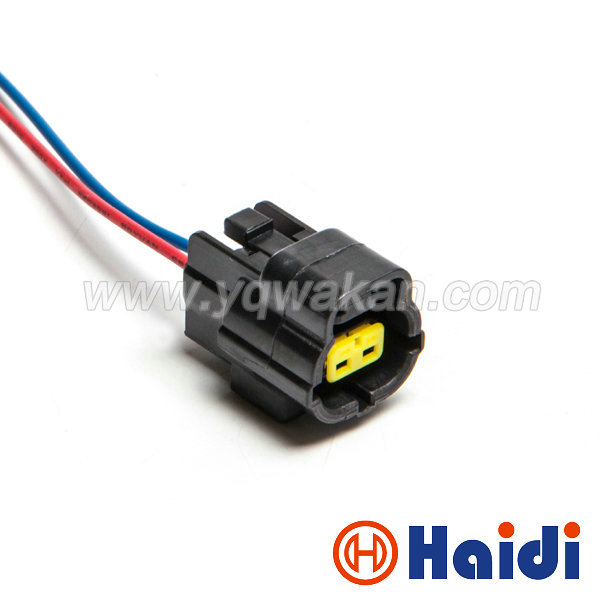 Free shipping 1 2pin black Mazda RX7 FD Intake Air Temp (IAT) Water Temperature Sensor Wire harness Connector 174352-2 цена