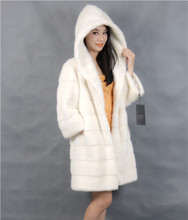 2015 winter woman fashion real mink fur long real mink coat 8051-W