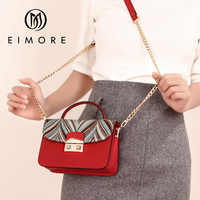 EIMORE New Arrival Women Desiguer Bag Embroidery Women Shoulder Messenger Bags Crossbody Bag Women Leather Handbags bolsos mujer