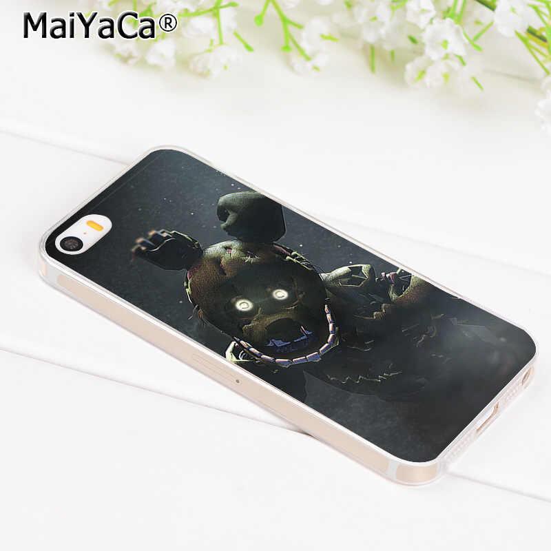 MaiYaCa Cinco Noites No Freddy Legal Acessórios Do Telefone para o Caso do iphone 8 7 6 6S Plus X XR XS MAX 5 5S SE 11 11pro max Tampa Do caso