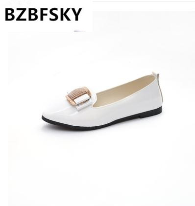 Cresfimix sapatos femininas women fashion spring & summer slip on flat shoes lady casual white office shoes female cute shoes casual shoes women office ladies shoes lady cute bow tie pointed toe flats female cute spring