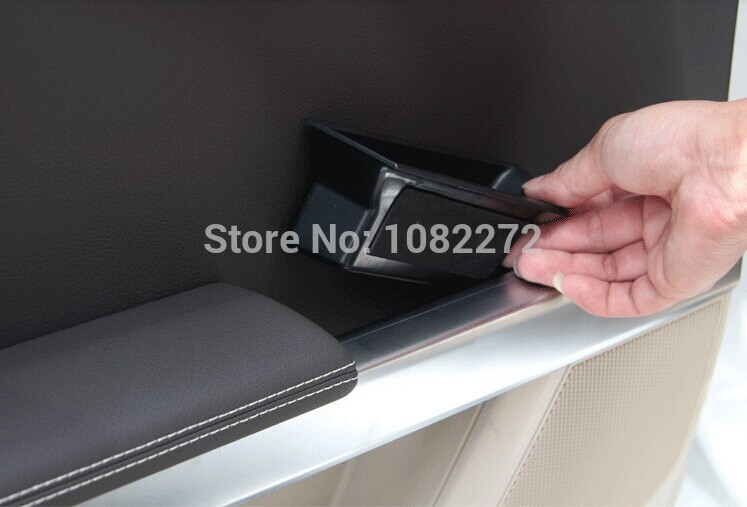 4pcs Car Door Container Armrest Storage Box <font><b>Phone</b></font> <font><b>Holder</b></font> Organizer For <font><b>Mercedes</b></font> Benz GLK Class X204 2009+