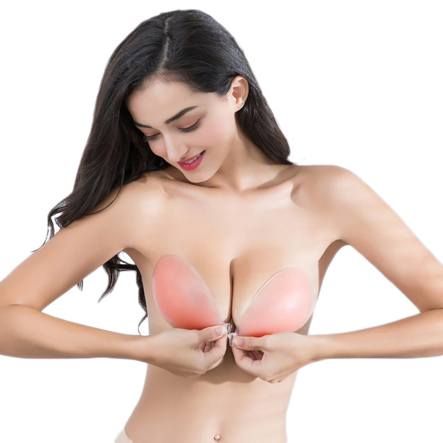 d87c2e0182a63 ECMLN Silicone Bra Self-adhesive Stick On Gel Push Up Strapless Backless  Invisible Bras Women