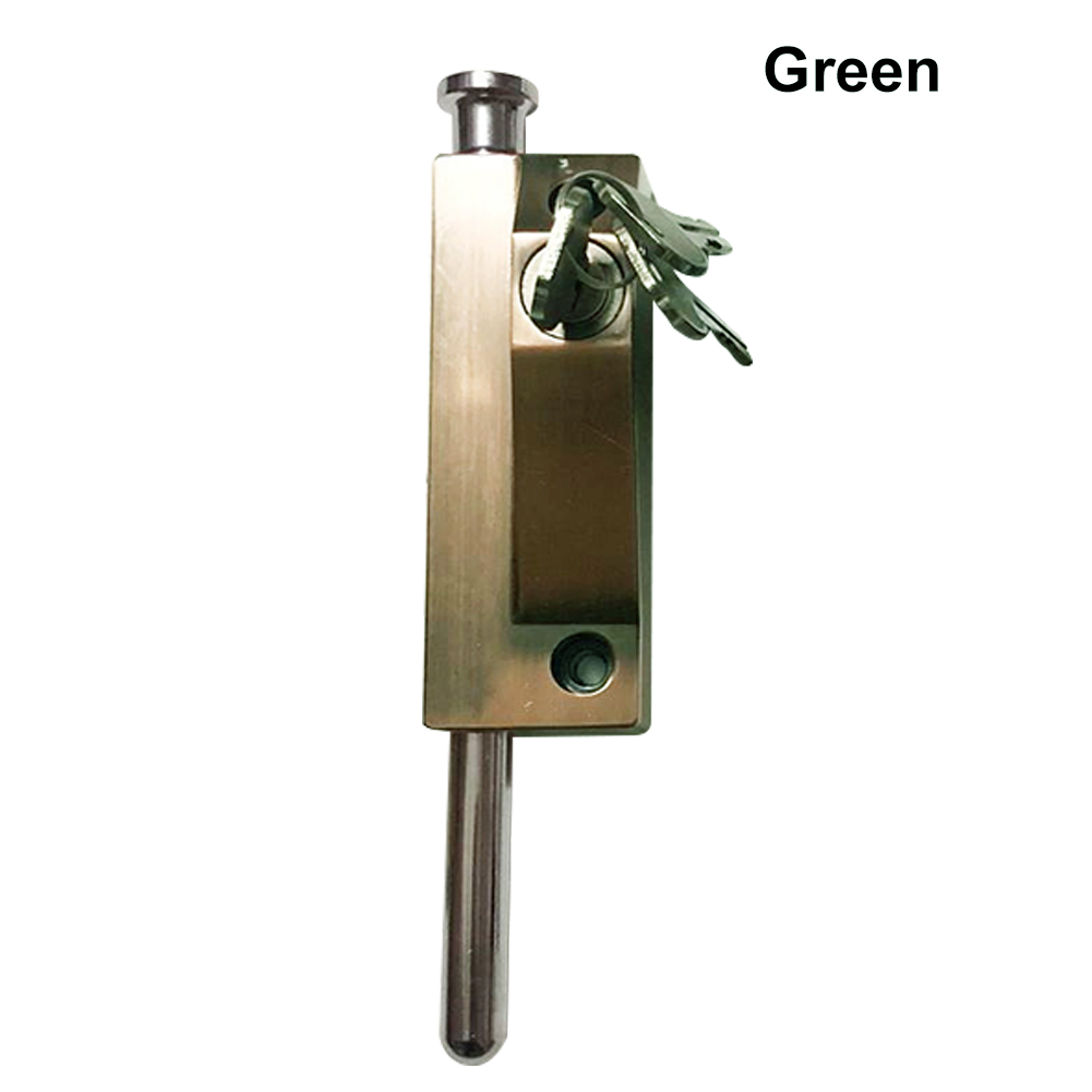 1 Pcs Stainless Steel Revolving Glass Door Spring Security Latch with Lock Keys MAL9991 Pcs Stainless Steel Revolving Glass Door Spring Security Latch with Lock Keys MAL999