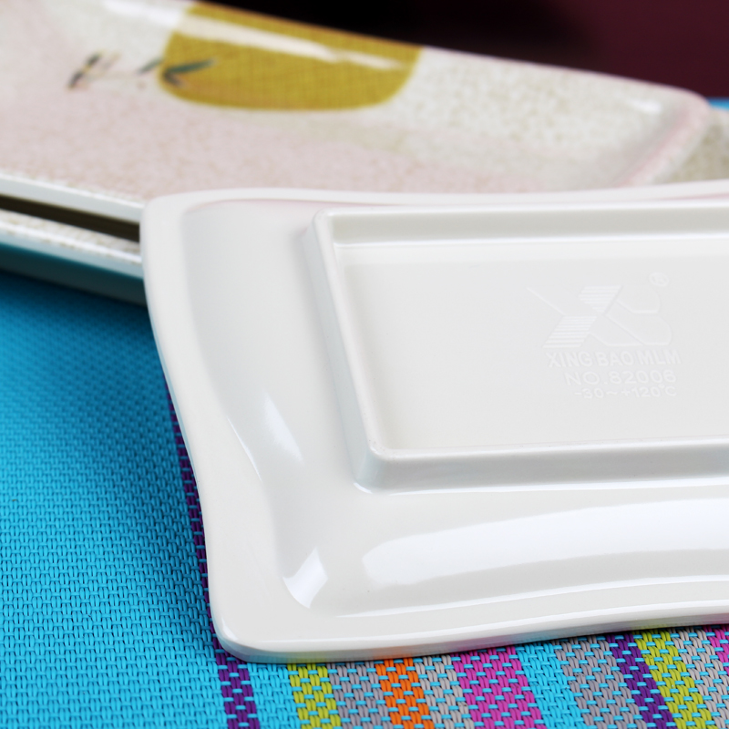 A5 Melamine Rectangle Plate Long Sushi Plate Tableware Plastic Disc Snack Plate Thick Melamine Plastic Plates Crackle Glaze-in Dishes u0026 Plates from Home ... & A5 Melamine Rectangle Plate Long Sushi Plate Tableware Plastic Disc ...