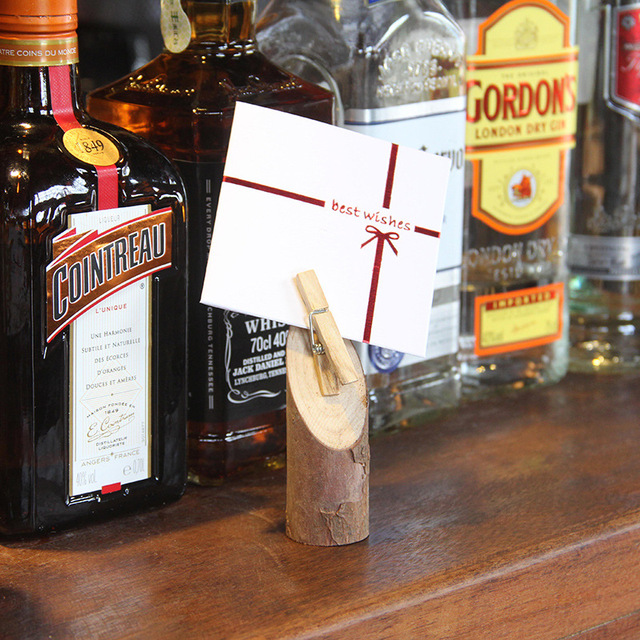 Aliexpress buy jianwu creative wooden message clip business jianwu creative wooden message clip business card wood pile memo folder learning stationery colourmoves