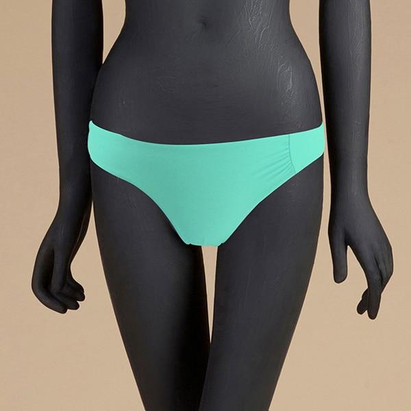 M& M 12 цветов, Раздельный купальник из двух частей, сексуальный купальник с низкой талией, женские одноцветные плавки, бразильские Плавки бикини - Цвет: Армейский зеленый