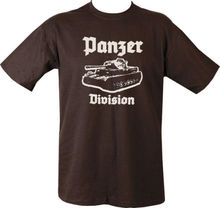 Military Printed PANZER DIVISION Tank T Shirt Black MenS T-Shirts Summer Style Fashion Swag Men Shirts.  Clothing