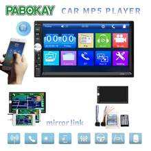 "2 Din coche Radio 7 ""HD Autoradio Reproductor Multimedia 2DIN Pantalla Táctil Auto Audio Coche Estéreo MP5 Bluetooth USB TF FM Cámara(China)"