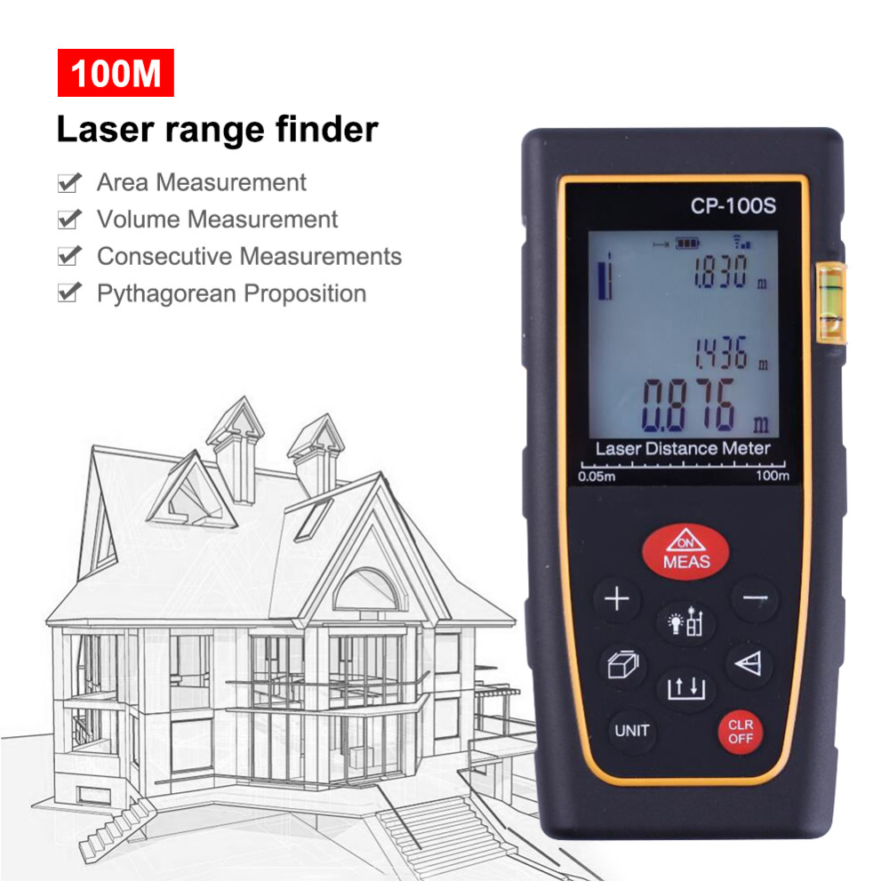 New Hand held Portable CP 100S100 Meters Laser Range Finder High Precision Laser Electronic Ruler Horizontal