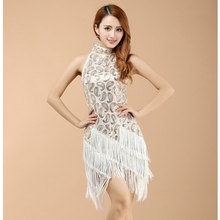Stage Dance Wear Women Latin Dress Women Latin Costume Dresses Fringe Dancewear