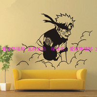 Naruto anime curtilage Japanese animation art background wall card posted large naruto children room