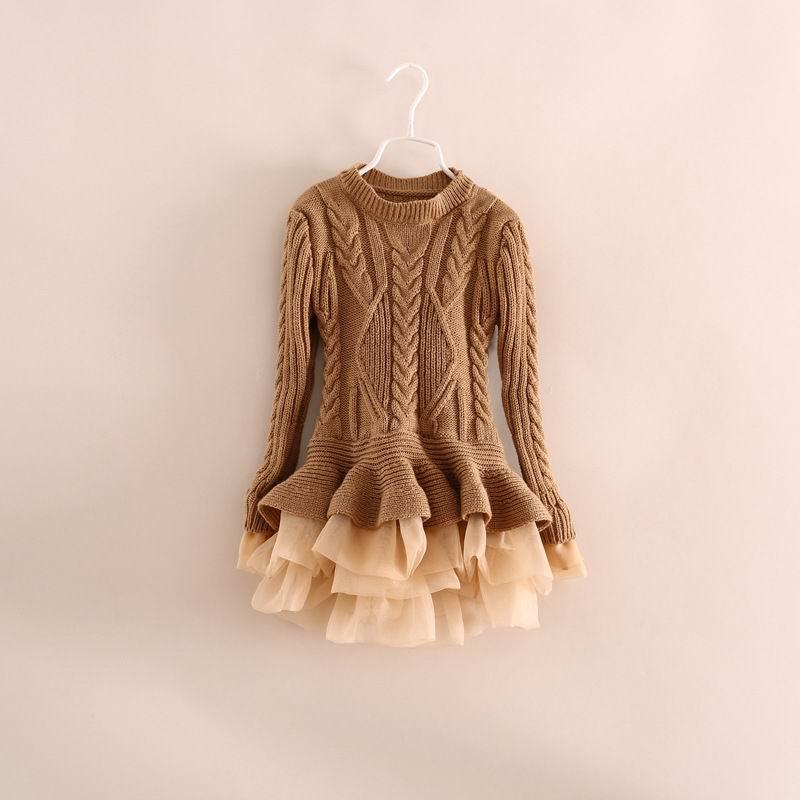 Mädchen Kleidung Gut Einzelhandel Frühling Herbst Mädchen Pullover Kinder Stricken Baumwolle Organza Bottom Kinder Pullover 3-8 Y C29 Auswahlmaterialien