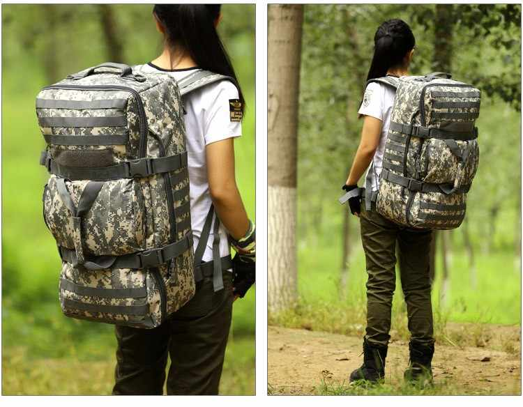 Hot Sale 60L Large Capacity Multifunctional Backpack Waterproof Molle Backpack Advanced Backpack Assault Travel Luggage Bag