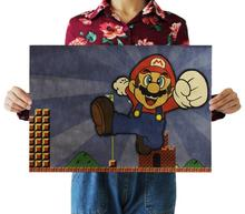 Hobbies Classic Toys Sticker Home decor Super Marie Mario wall stickers rooms Kraft Paper Painting Vintage Poster Wall Stickers tie ler fight club kraft paper poster movie vintage paper poster retro art wall decoration wall sticker 51 5 35 cm