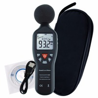 Professional Compact Sound Level Meter with Data Record Function 30dB 130dB High Accuracy Measuring with Backlit Display