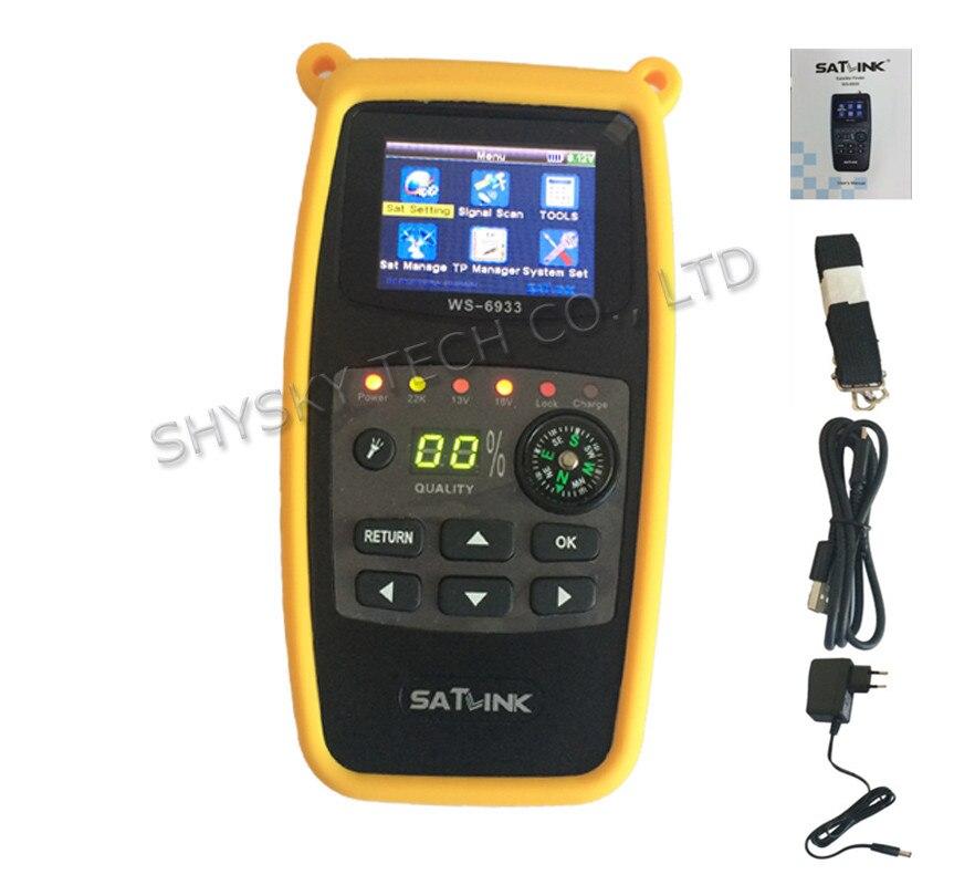 ФОТО 5pcs/ Lot 100% Original SATLINK WS-6933 DVB-S/S2 FTA C&KU Band Digital Satellite Meter 2.1