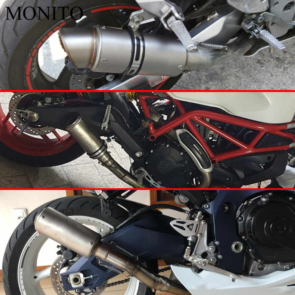 2019 Motorcycle SC exhaust escape Modified Exhaust Muffler DB Killer For  Honda MSX 125 CB650R CB125R XADV X ADV 750 X11 ST1300