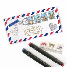 JC Metal Cutting Dies and Rubber Stamps for Scrapbooking Craft Cut Rabbit Happy Mail Card Make Stencil Album Decor