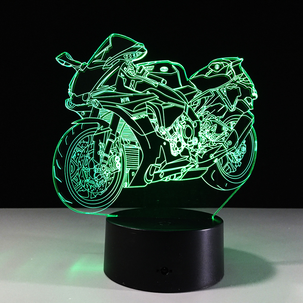 Lava lamp bulb wattage - Motorcycle Lava Lamp Helmet Luminaria Motocicleta Color Changing Touch 3d Night Light Led Luminaria Bedroom Lighting