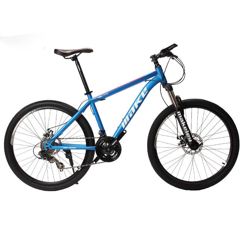 MAKE Mountain Bike Steel Frame 24 Speed Shimano 26 Wheel Mechanical Disc Brakes MTB Innrech Market.com