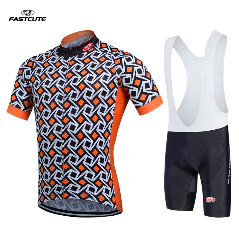 Fastcute 2017 orange cycling jerseys bike short set clothes summer ciclismo Cycling clothing kit MTB Bicycle Maillot Culotte inova sts bike light orange