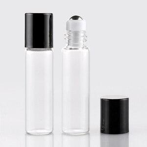 Image 5 - Commercio allingrosso 100 Pezzi/lottp Mini Bottiglie di Profumo di Vetro Con Roll On Bottiglia di Vuoto Cosmetico Olio Essenziale Per I Viaggi Con Sfera In Acciaio