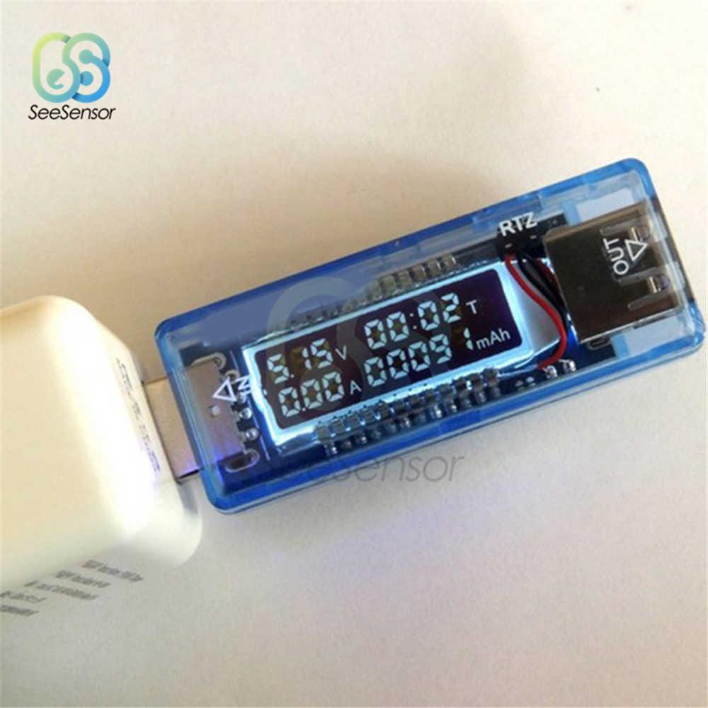 USB Tensione Corrente Capacità Tester Tester di Volt di Tensione di Corrente Medico Caricatore Capacità Tester del Tester Rilevatore di Test Della Batteria Mobile di Potere